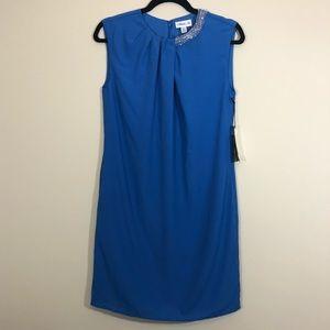 3.1 Phillip Lim Blue Beaded Neckline Shift Dress
